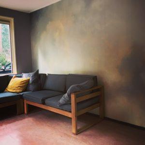 vakantiehuisje in het bos natuurhuisje te huur woonkamer